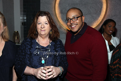 Playwrights, Theresa Rebeck,  Aurin Squire photo by R.Cole for Rob Rich/SocietyAllure.com ©2017 robrich101@gmail.com 516-676-3939
