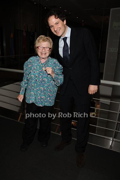 Dr.Ruth Westheimer, David Hryck<br /> photo by Rob Rich © 2010 robwayne1@aol.com 516-676-3939