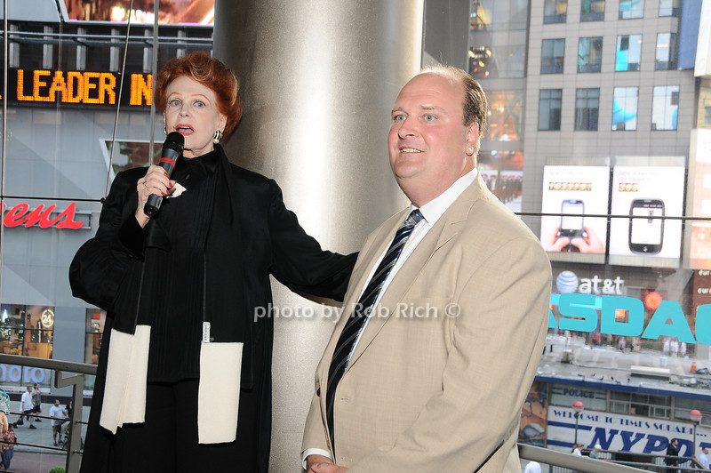Arlene Dahl, David Wicks (VP of NASDAQ)<br /> photo by Rob Rich © 2010 robwayne1@aol.com 516-676-3939