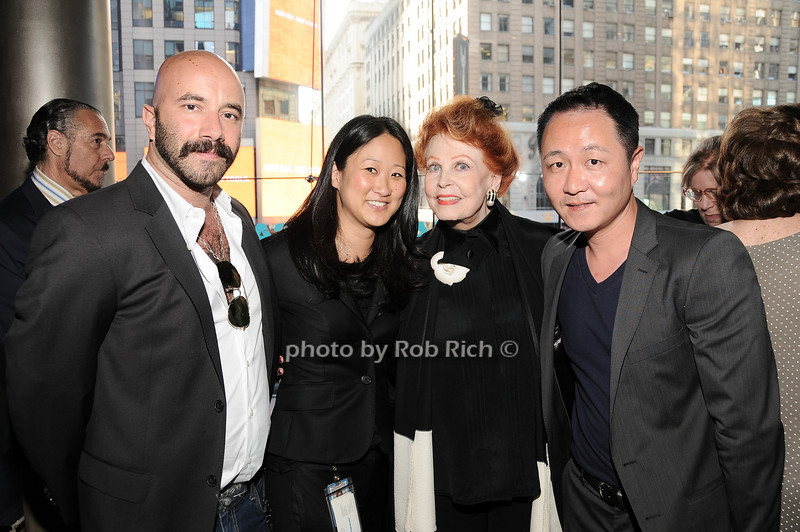 Frank Pulice Jen Oak, Arlene Dahl, Io Park<br /> photo by Rob Rich © 2010 robwayne1@aol.com 516-676-3939