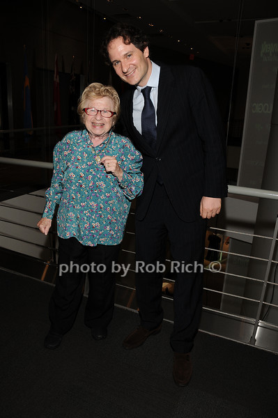 Dr.Ruth Westheimer, David Hryck<br /> photo by Rob Rich © 2010 robwayne1@aol.com 516-676-3939