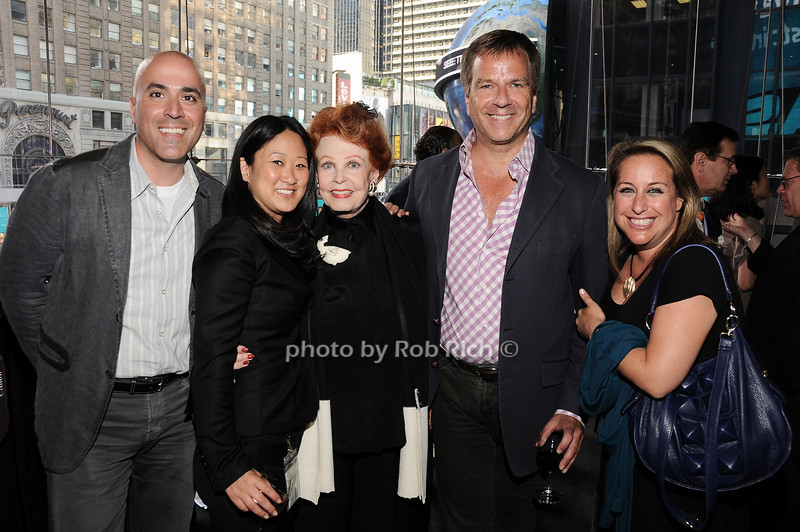 Paul Hilepo, Jen Oak, Arlene Dahl, Tom Knocek, Barbara Feinstein<br /> photo by Rob Rich © 2010 robwayne1@aol.com 516-676-3939