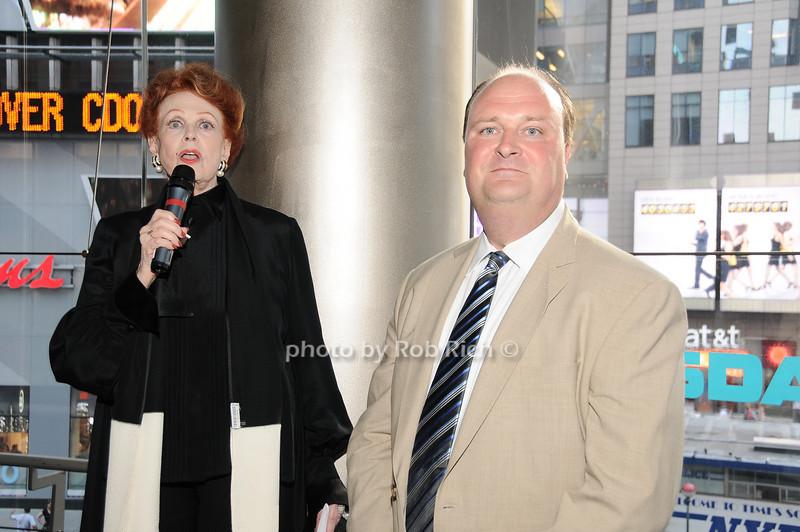 Arlene Dahl, David Wicks (VP of NASDAQ)<br /> photo by Rob Rich © 2010 robwayne1@aol.com 516-676-3939