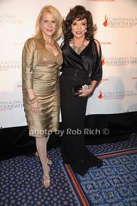 Francine LeFrak, Joan Collins photo by Rob Rich © 2010 robwayne1@aol.com 516-676-3939