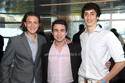 Luke Kornblatt, Zach Hagani, Lawrence Edelstein photo by Rob Rich/SocietyAllure.com © 2012 robwayne1@aol.com 516-676-3939