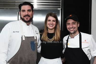 Chef Matt O'Neill, Sarah Shearin, Chef Stewart Gary photo by Rob Rich/SocietyAllure.com ©2017 robrich101@gmail.com 516-676-3939