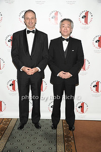 Mikael Dolsten MD,PHD and Takashi Owa PHD photo by Rob Rich © 2012 robwayne1@aol.com   516-676-3939