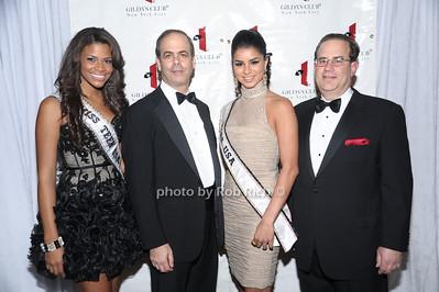 Miss Teen USA Kamie Crawford,Dr. Andrew J. Dannenberg, Miss USA 2010  Rima Fakih, Dr. Elliott Sigal photo by Rob Rich © 2010 robwayne1@aol.com 516-676-3939