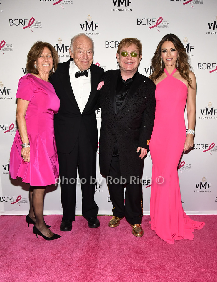 Judith Lauder,Leonard Lauder, Sir Elton John, Elizabeth Hurley