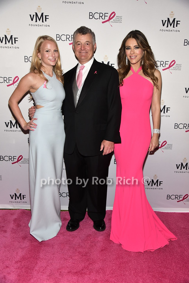 Danielle Lauder, William Lauder, Elizabeth Hurley
