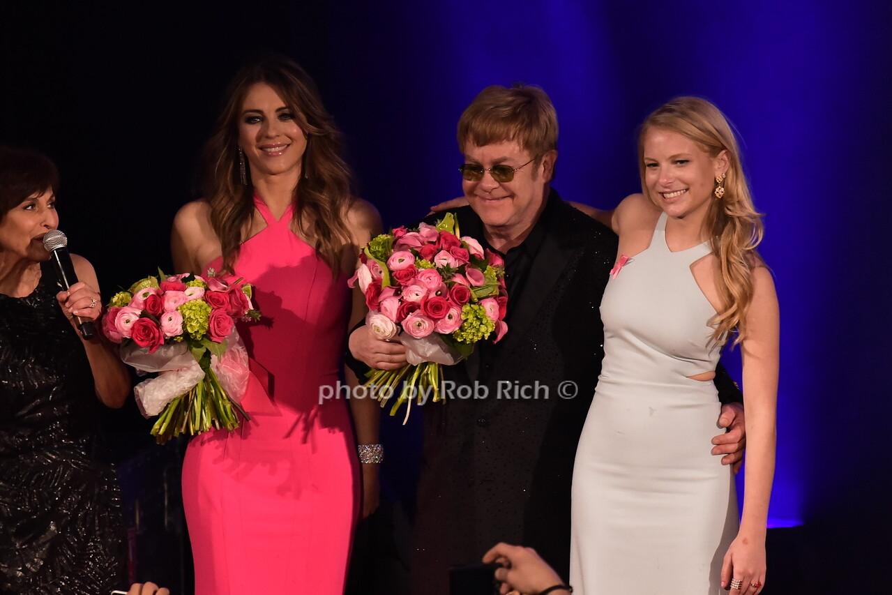Myra Bibowit, Elizabeth Hurley, Sir Elton John, Danielle Lauderphoto by Rob Rich/SocietyAllure.com © 2016 robwayne1@aol.com 516-676-3939