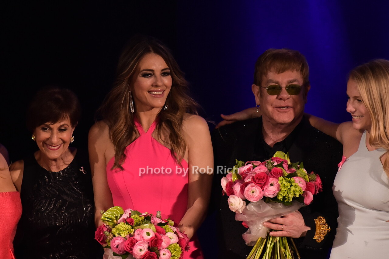 Eliana Lauder, Myra Bibowit, Elizabeth Hurley, Sir Elton John, Danielle Lauderphoto by Rob Rich/SocietyAllure.com © 2016 robwayne1@aol.com 516-676-3939