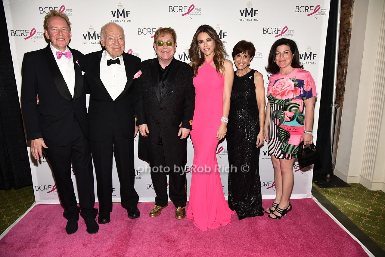 Anthony von Mandl, Leonard Lauder, Sir Elton John, Elizabeth Hurley, Myra Biblowit, Dr.Debra von Mandl photo by Rob Rich/SocietyAllure.com © 2016 robwayne1@aol.com 516-676-3939