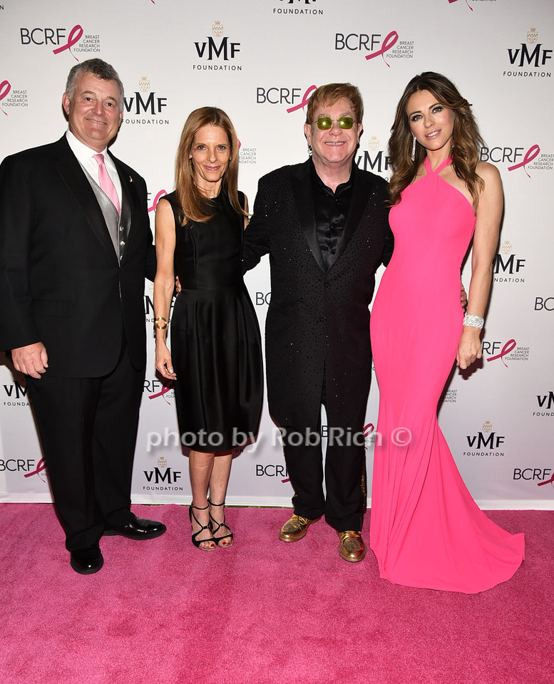 William Lauder, guest, Sir Elton John, Elizabeth Hurley