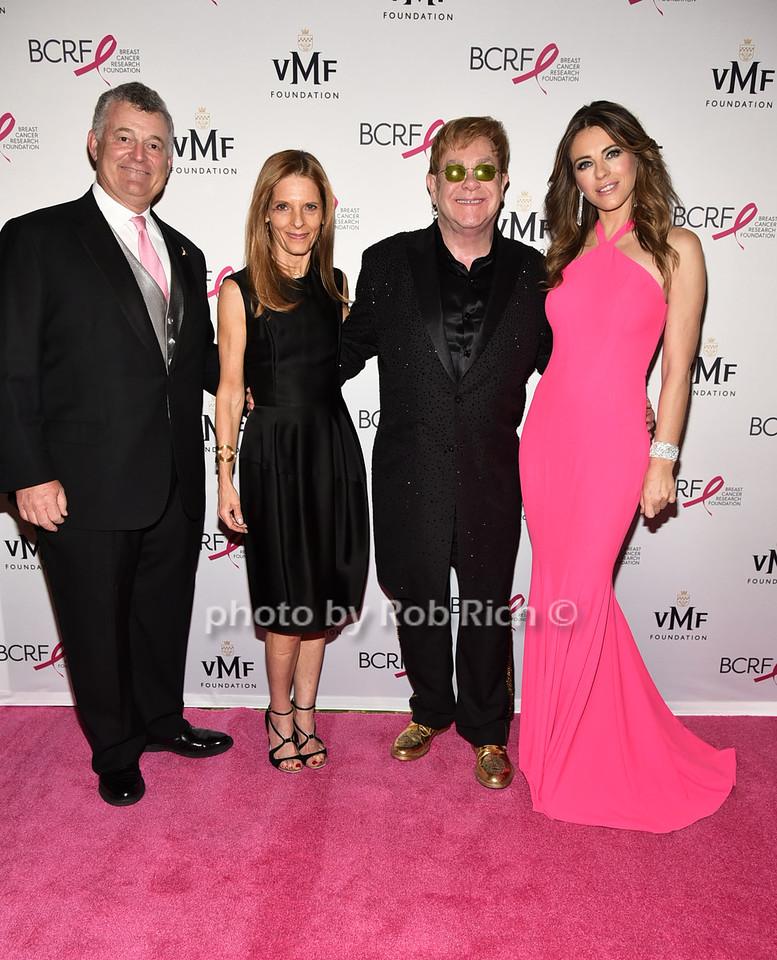 William Lauder, guest, Sir Elton John, Elizabeth Hurley