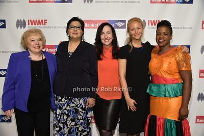 Linda Deutsch, Lourdes Ramirez, Elisa Munoz, Anna Nemtsova, Mwape Kumwenda photo by Rob Rich/SocietyAllure.com © 2015 robwayne1@aol.com 516-676-3939