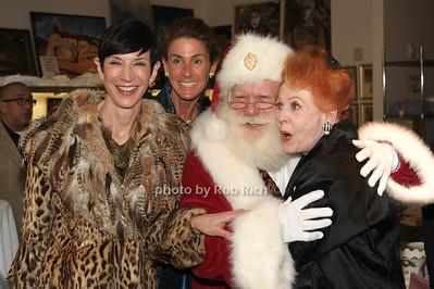 Amy Fine Collins, Somers Farkas, Santa Claus, Arlene Dahl photo by Rob Rich/SocietyAllure.com © 2011 robwayne1@aol.com 516-676-3939
