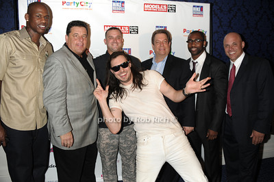 Al Harrington,Steve Schirripa, Troy Yocum, Andrew W.K., Mitch Modell, Darrelle Revis,  Jim Riley photo by Rob Rich © 2011 robwayne1@aol.com 516-676-3939
