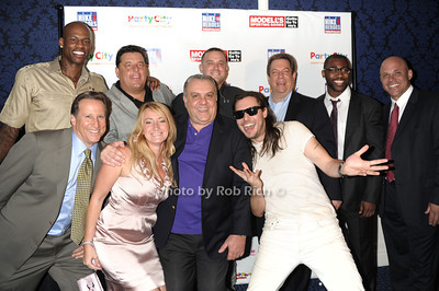 front row -Bruce Beck, guest,Vincent Curatola,Andrew W.K. back row - Al Harrington, Steve Schirripa, Troy Tocum, Mitch Modell, Darrelle Revis, Jim Riley  photo by Rob Rich © 2011 robwayne1@aol.com 516-676-3939
