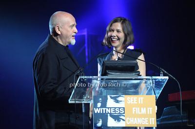 Peter Gabriel, Maggie Gyllenhaal  photo  by Rob Rich © 2010 robwayne1@aol.com 516-676-3939