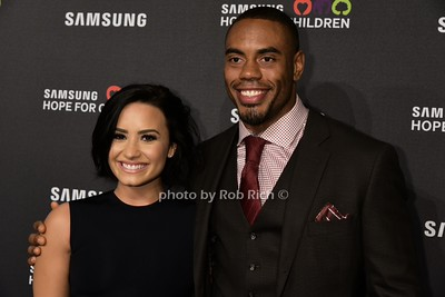 Demi Lovato, Rashad Jennings photo by Rob Rich/SocietyAllure.com © 2015 robwayne1@aol.com 516-676-3939
