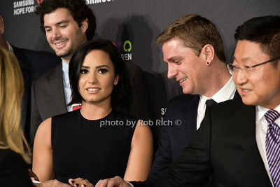 Demi Lovato, Rob Thomas, Gregory Lee photo by Rob Rich/SocietyAllure.com © 2015 robwayne1@aol.com 516-676-3939