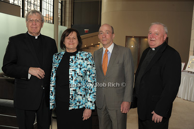 Monsignor Peter Garry, Grace Lo Grande, Dan Kurtz, Father Pat West   photo  by Rob Rich © 2014 robwayne1@aol.com 516-676-3939