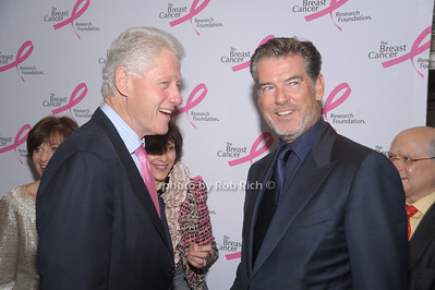 Bill Clinton and Pierce Brosnan at The Breast Cancer Research Foundation Luncheon at the Warldorf Astoria in Manhattan on 10-27-10.photo by Rob Rich © 2010 robwayne1@aol.com 516-676-3939