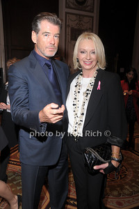 Pierce Brosnan and Mamma Mia producer Judy Craymer  at The Breast Cancer Research Foundation Luncheon at the Warldorf Astoria in Manhattan on 10-27-10.photo by Rob Rich © 2010 robwayne1@aol.com 516-676-3939