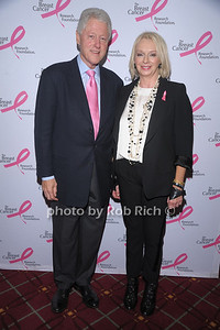 Bill Clinton and  Judy Craymer , Humanitarian recepient, at The Breast Cancer Research Foundation Luncheon at the Warldorf Astoria in Manhattan on 10-27-10.photo by Rob Rich © 2010 robwayne1@aol.com 516-676-3939