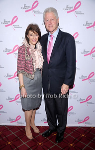 Mrs.Evelyn Lauder and Bill Clinton at The Breast Cancer Research Foundation Luncheon at the Warldorf Astoria in Manhattan on 10-27-10.photo by Rob Rich © 2010 robwayne1@aol.com 516-676-3939