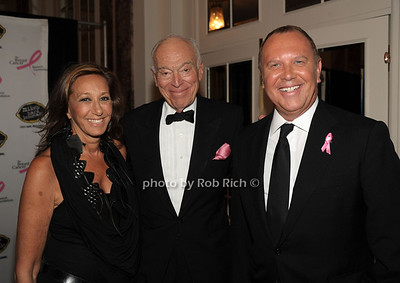 Donna Karan, Leonard Lauder, Michael Kors photo by Rob Rich/SocietyAllure.com © 2012 robwayne1@aol.com 516-676-3939