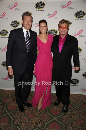 Brian Williams, Allison Williams, Sir Elton John photo by Rob Rich/SocietyAllure.com © 2012 robwayne1@aol.com 516-676-3939