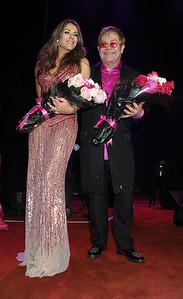 Elizabeth Hurley and Elton John