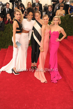 Cara Delevigne, Rihanna, Stella McCartney, Kate Bosworth, and Reese Witherspoon  photo by Rob Rich © 2014 robwayne1@aol.com 516-676-3939