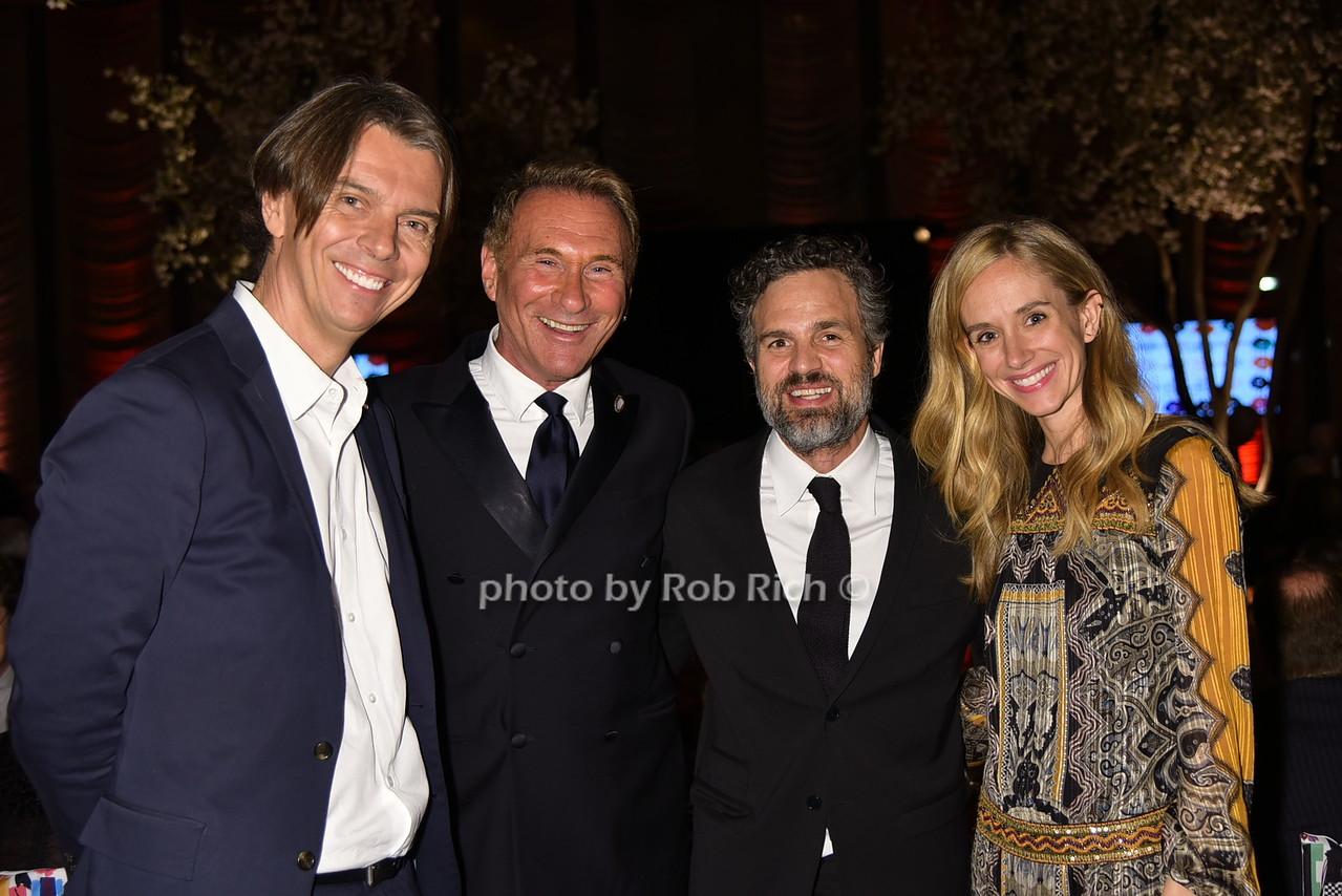 Sean MacPherson, Hal Rubenstein, Mark Ruffalo, Rachele Hruska photo by Rob Rich/SocietyAllure.com © 2016 robwayne1@aol.com 516-676-3939