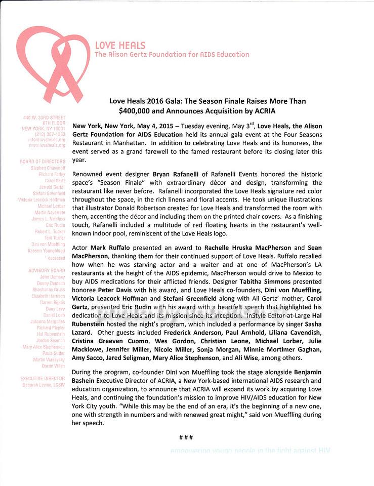 Love Heals Post Release