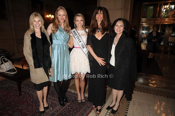 Judy Gilbert, Ulrika Nillsson, Danielle Doty Miss Teen USA 2011, Carole Alt, Kedaki Lipton photo by Rob Rich/SocietyAllure.com © 2012 robwayne1@aol.com 516-676-3939