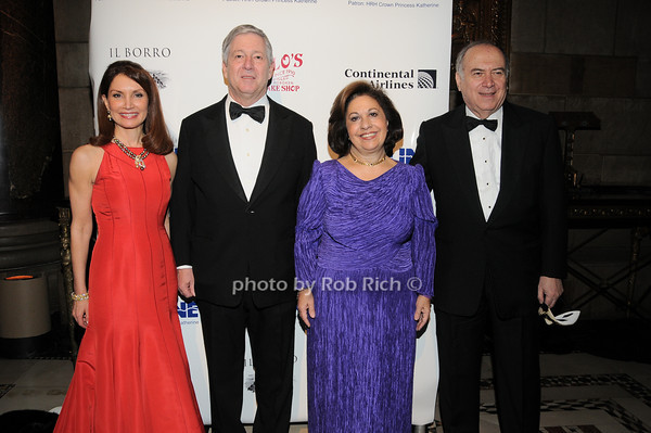 Jean Shafiroff, HRH Crown Prince Alexander II of Serbia, HRH Crown Princess Katherine of Serbia, Martin.Shafiroff<br /> photo by Rob Rich © 2010 robwayne1@aol.com 516-676-3939