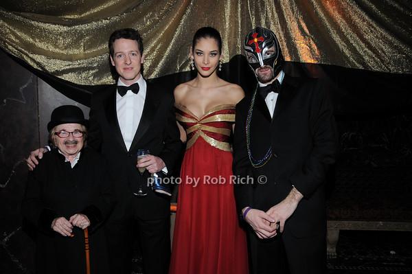 Dr. Ruth Westheimer , HRH Prince Philip of Serbia,  Miss Universe 2008 Dayana Mendoza, HRH Prince Peterr of Serbia<br /> photo by Rob Rich © 2010 robwayne1@aol.com 516-676-3939