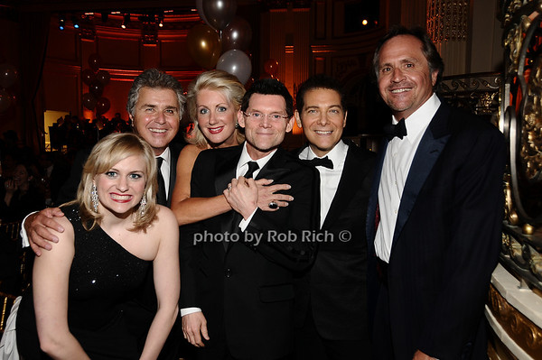 Haley Swindal, Steve Tyrell, Jennifer Swindal, guest, Michael Feinstein, Steve Swindal<br /> photo by Rob Rich © 2010 robwayne1@aol.com 516-676-3939