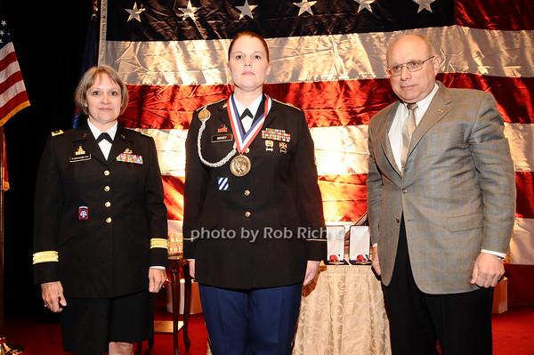 Brigader General Karlynn Peltz O'Shaughnnessy, Sargeant Moody, Mike Berman<br /> photo by Rob Rich © 2010 robwayne1@aol.com 516-676-3939