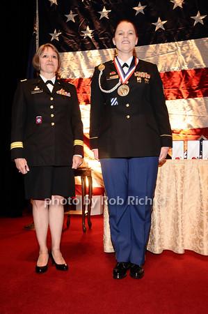 Brigader General Karlynn Peltz O'Shaughnnessy, Sargeant Moody<br /> photo by Rob Rich © 2010 robwayne1@aol.com 516-676-3939