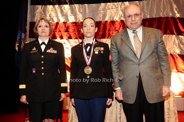 Brigader General Karlynn Peltz O'Shaughnnessy, Christine DiCaprio, Mike Berman<br /> photo by Rob Rich © 2010 robwayne1@aol.com 516-676-3939