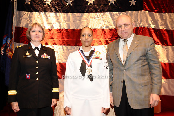 Brigader General Karlynn Peltz O'Shaughnnessy, Wendy Estrella, Mike Berman<br /> photo by Rob Rich © 2010 robwayne1@aol.com 516-676-3939