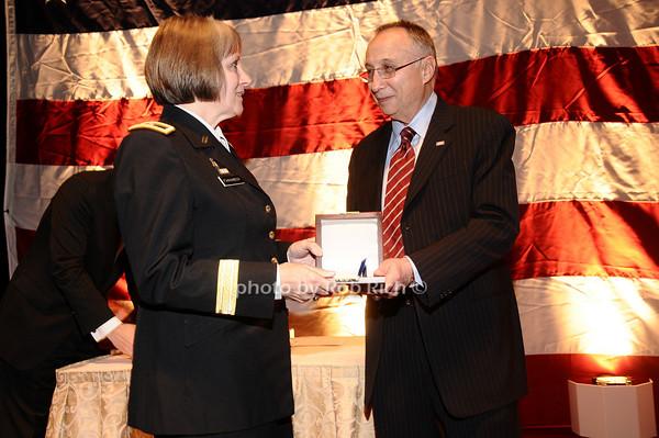 Brigader General Karlynn Peltz O'Shaughnnessy,Steve Scheffer<br /> photo by Rob Rich © 2010 robwayne1@aol.com 516-676-3939