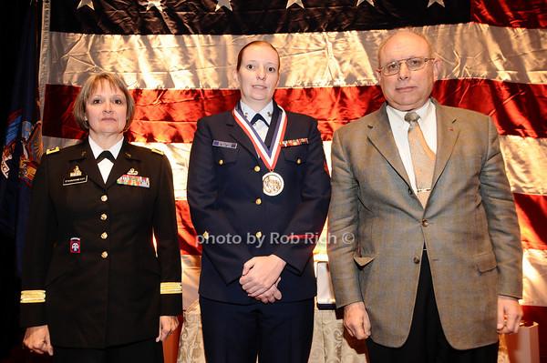 Brigader General Karlynn Peltz O'Shaughnnessy, Ann Marie Dorkowski,  Mike Berman<br /> photo by Rob Rich © 2010 robwayne1@aol.com 516-676-3939