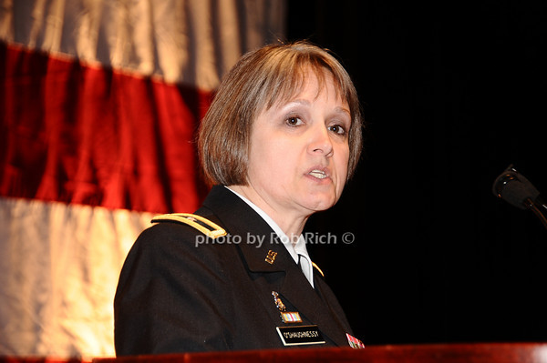 Brigader General Karlynn Peltz O'Shaughnnessy (Woman of the Year  Award Recepient)<br /> photo by Rob Rich © 2010 robwayne1@aol.com 516-676-3939