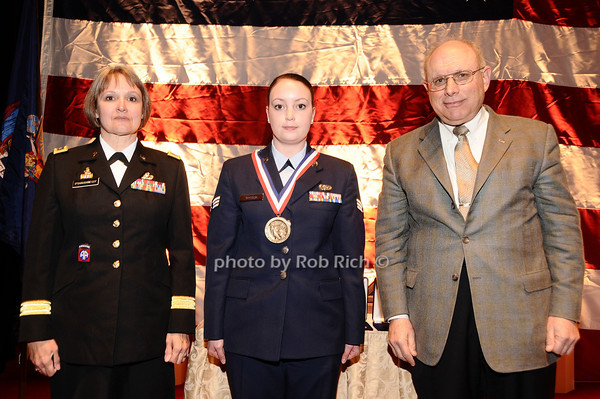 Brigader General Karlynn Peltz O'Shaughnnessy, Anna Wasson,  Mike Berman<br /> photo by Rob Rich © 2010 robwayne1@aol.com 516-676-3939