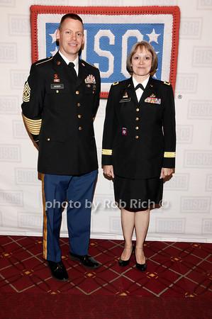 Darren Wiser, Brigader General Karlynn Peltz O'Shaughnnessy<br /> photo by Rob Rich © 2010 robwayne1@aol.com 516-676-3939